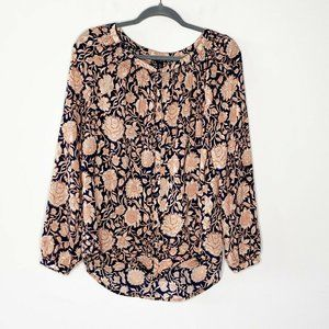 Lucky Brand Jemma Floral Peasant Top
